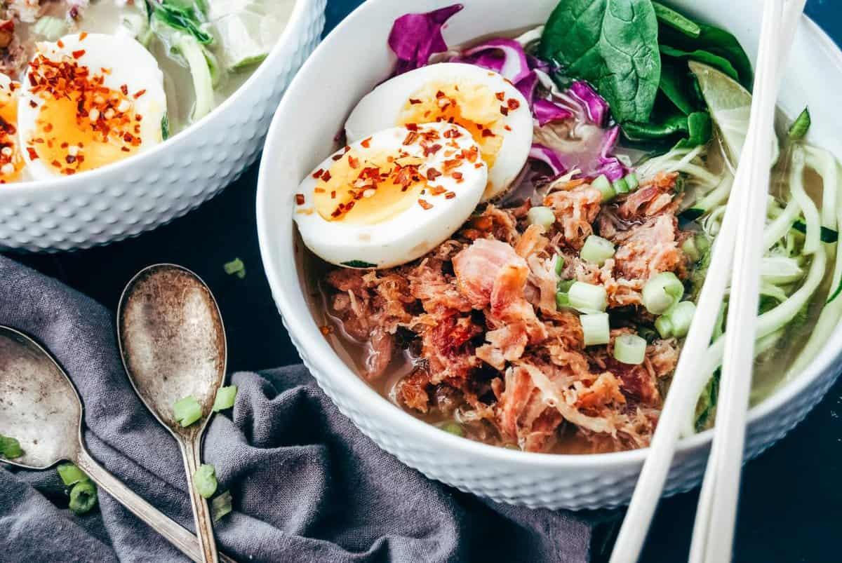 Pork Ramen Zoodle Bowl
