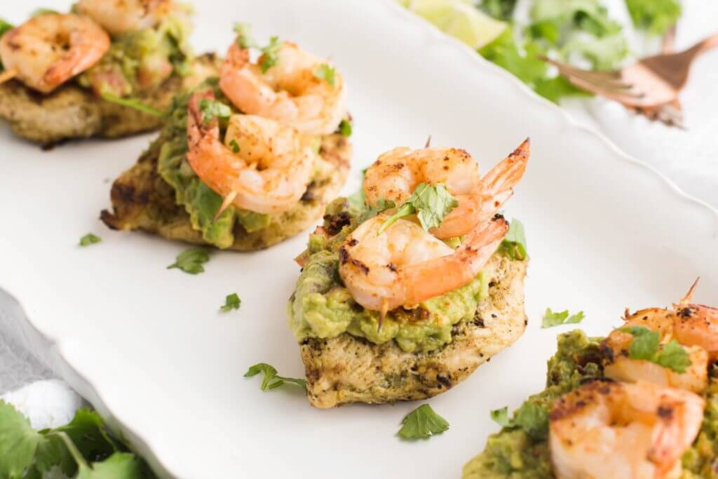 Guacamole Chicken and Shrimp
