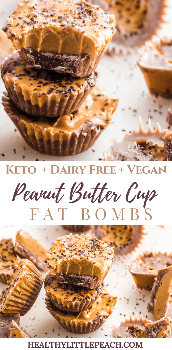 Keto Peanut Buttercup Fat Bombs
