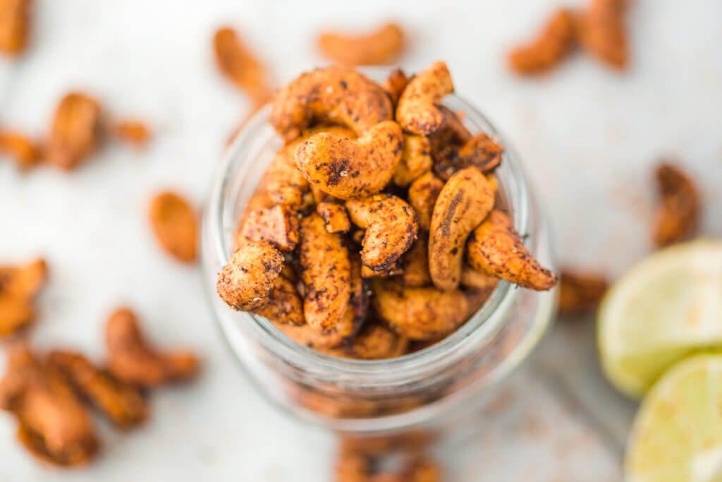 nuts in a mason jar