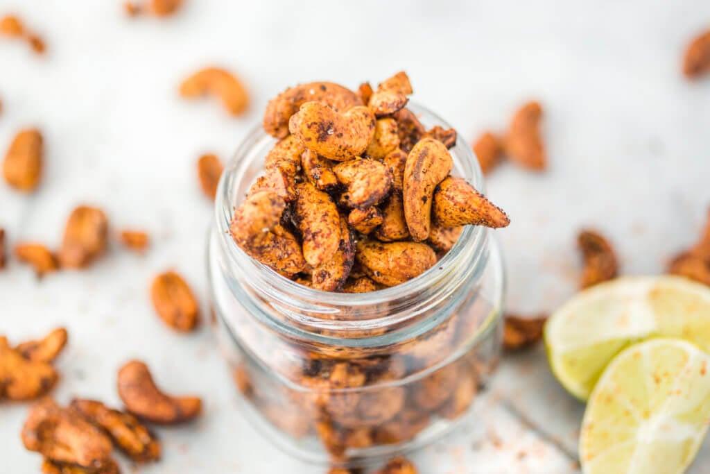 cashews in a mason jar