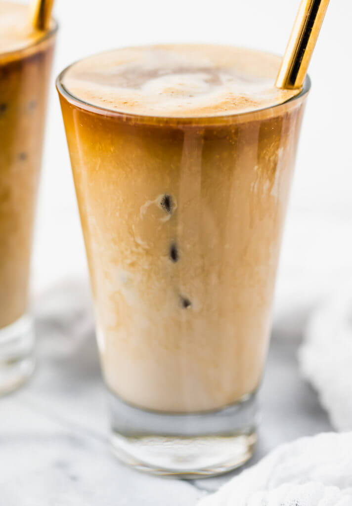Creamy iced bullet proof coffee