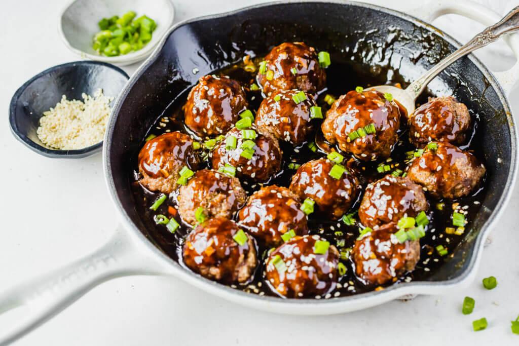 Sticky Asian Meatballs