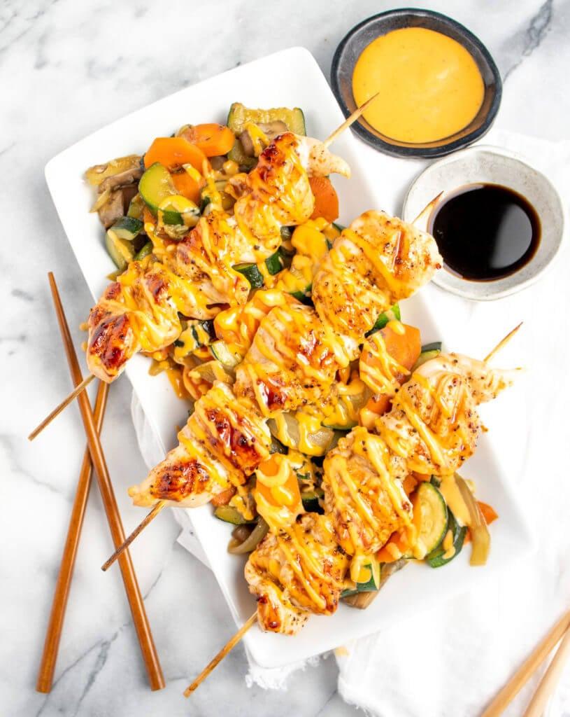 Hibachi Chicken Super Bowl Appetizers