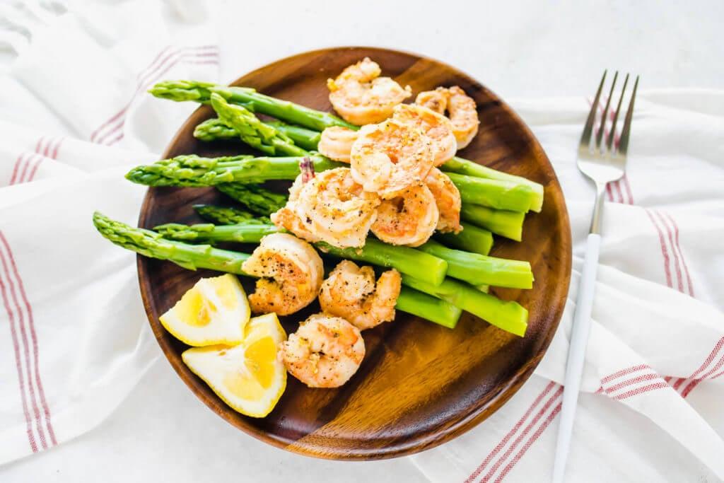 Lemon Pepper Shrimp and Asparagus
