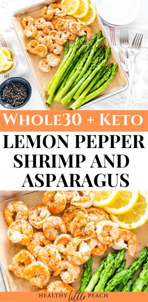 Keto Lemon Pepper Shrimp and Asparagus