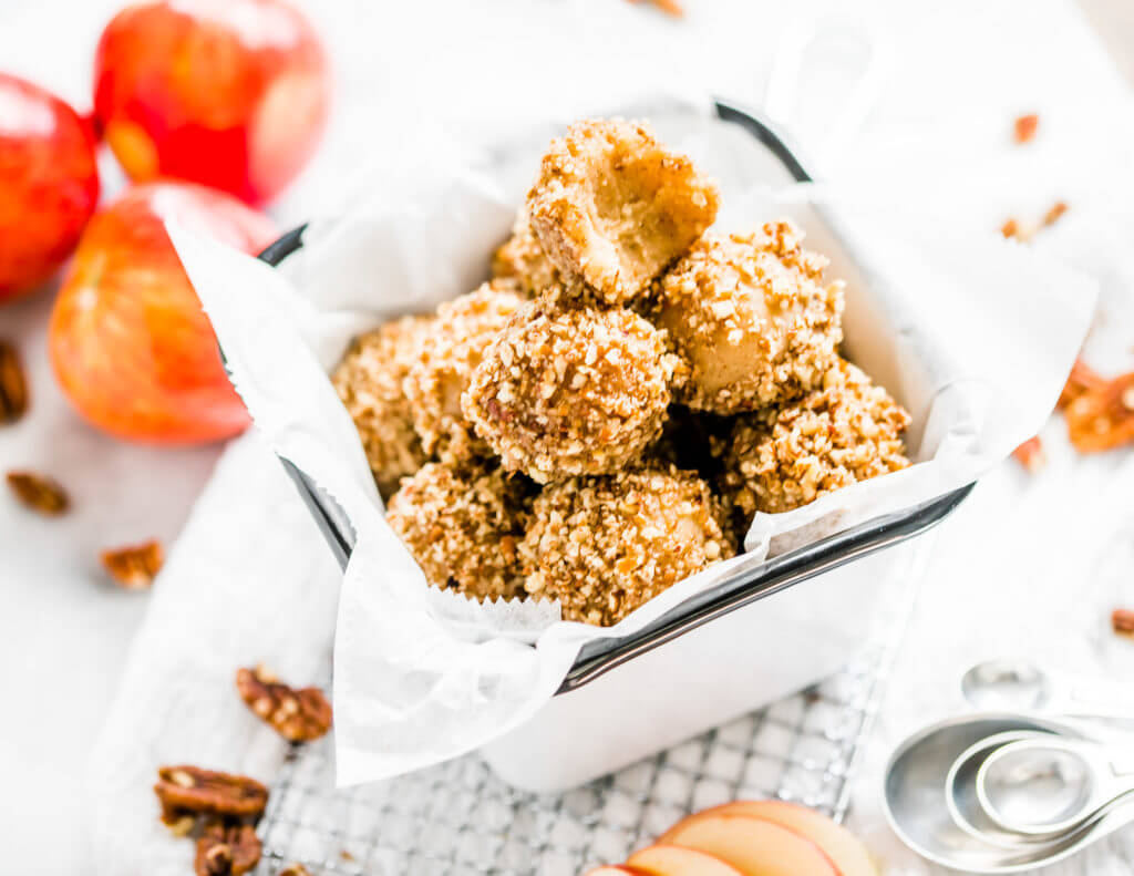 No Bake Apple Pie Bites