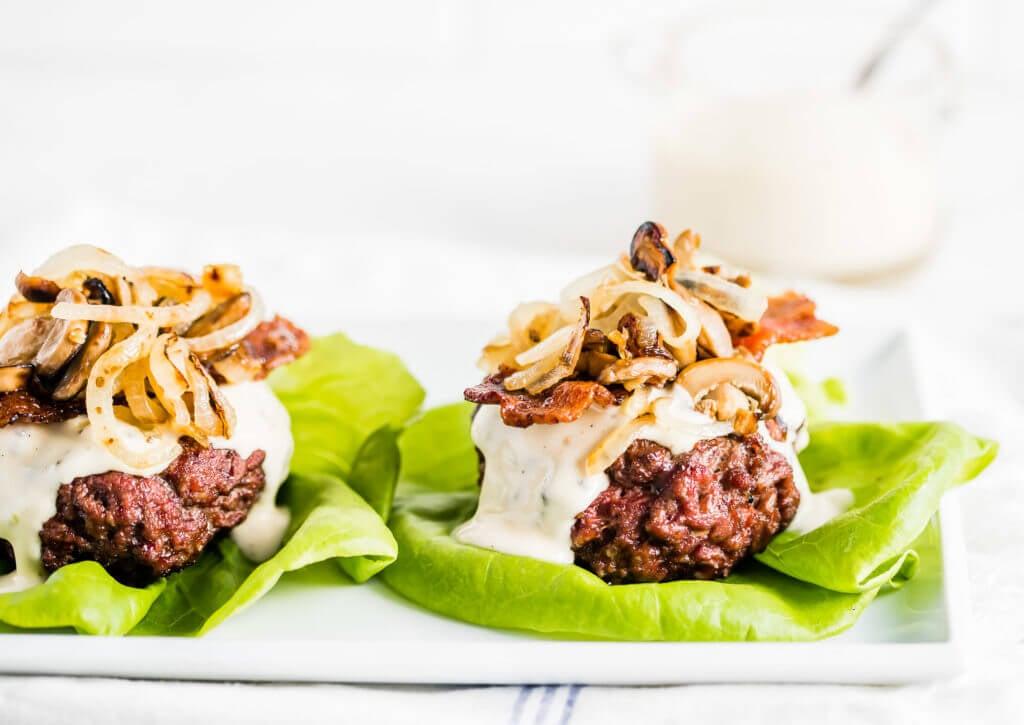 Mushroom Onion Bacon Burger