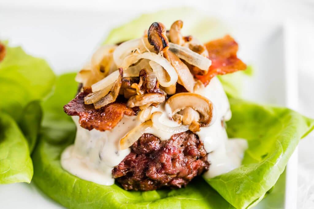 Mushroom Bacon Burgers Super Bowl Appetizers