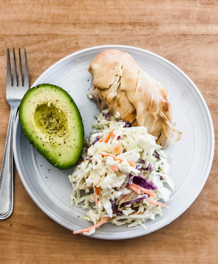 Chicken Breast and Coleslaw