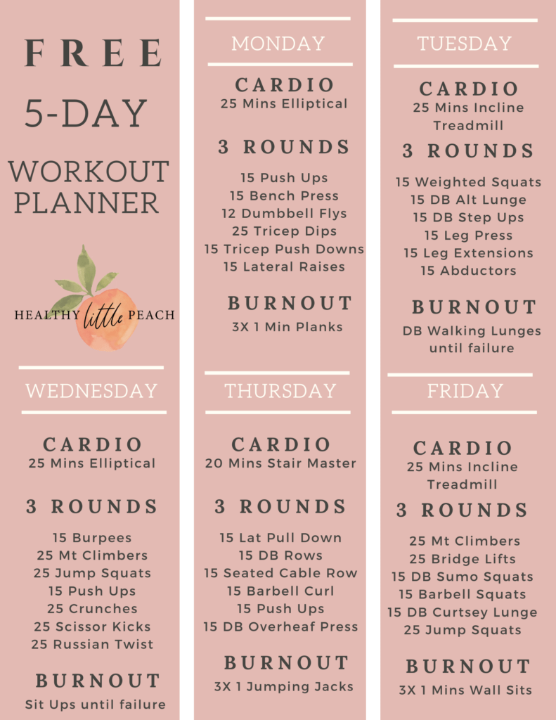 5-Day Workout Plan