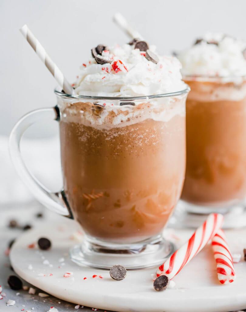 Keto Peppermint Mocha Frappuccino