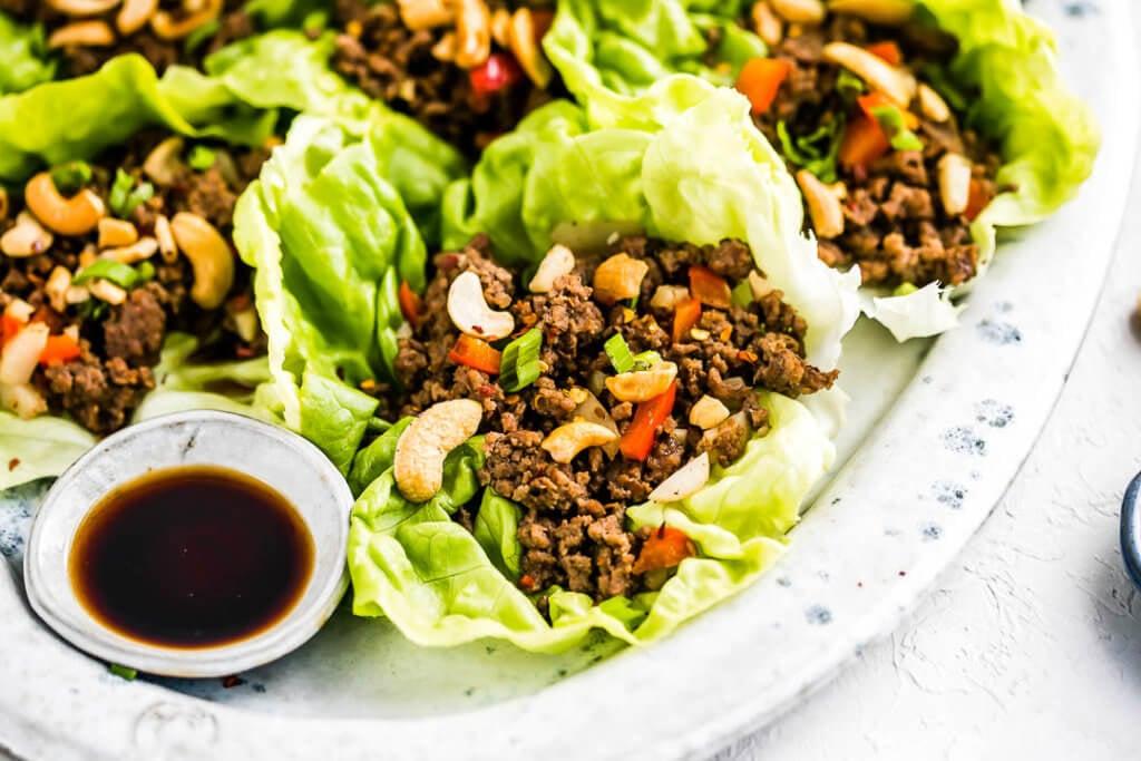 Beef Lettuce Wraps Super Bowl Appetizers