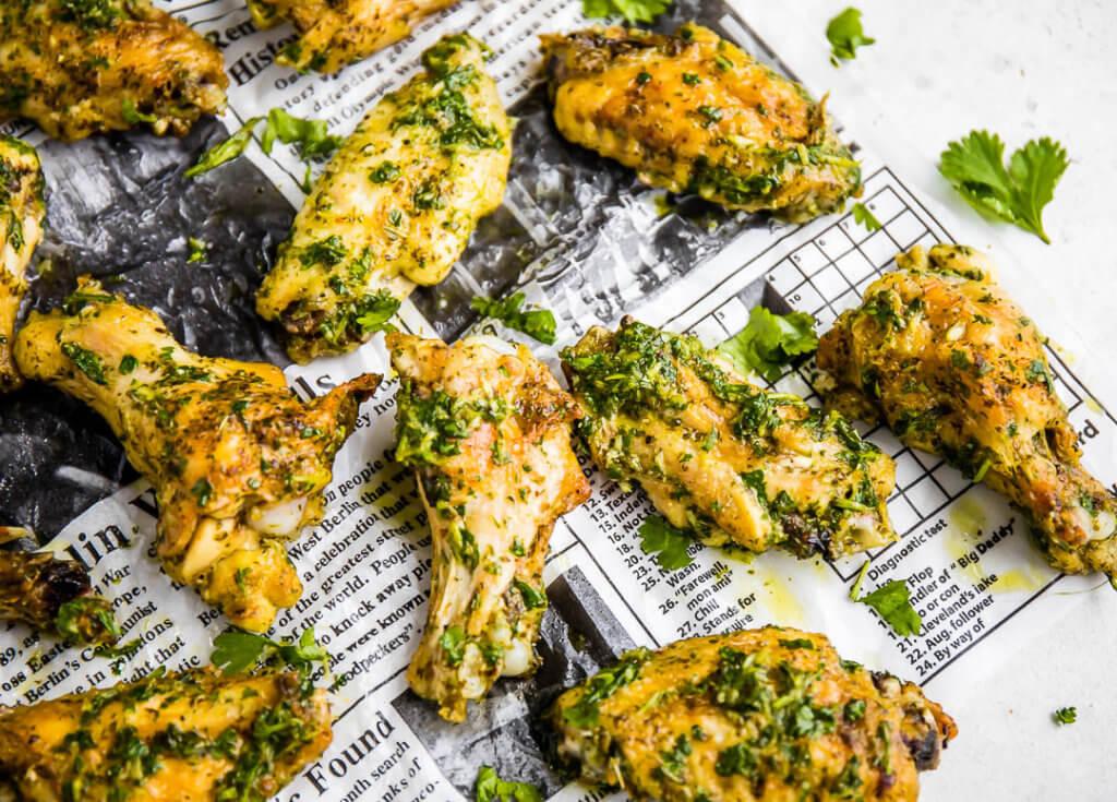 Cilantro Vinaigrette Chicken Wings