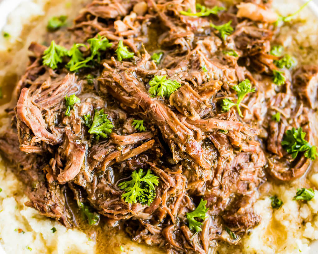 Ranch Roast over Cauliflower Mash