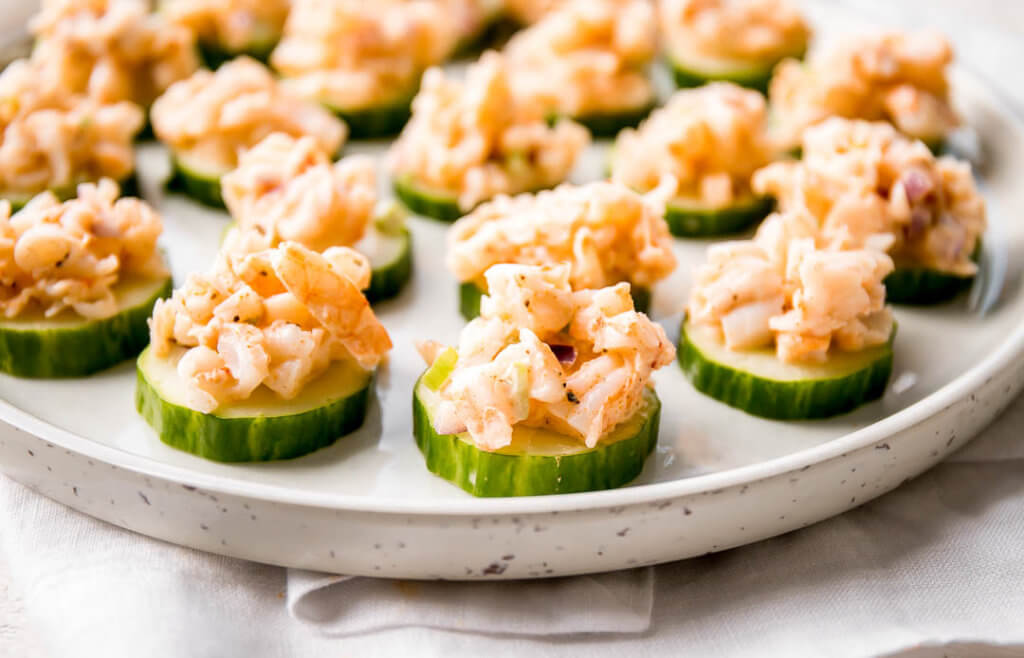 Shrimp Salad Bites Super Bowl Appetizers