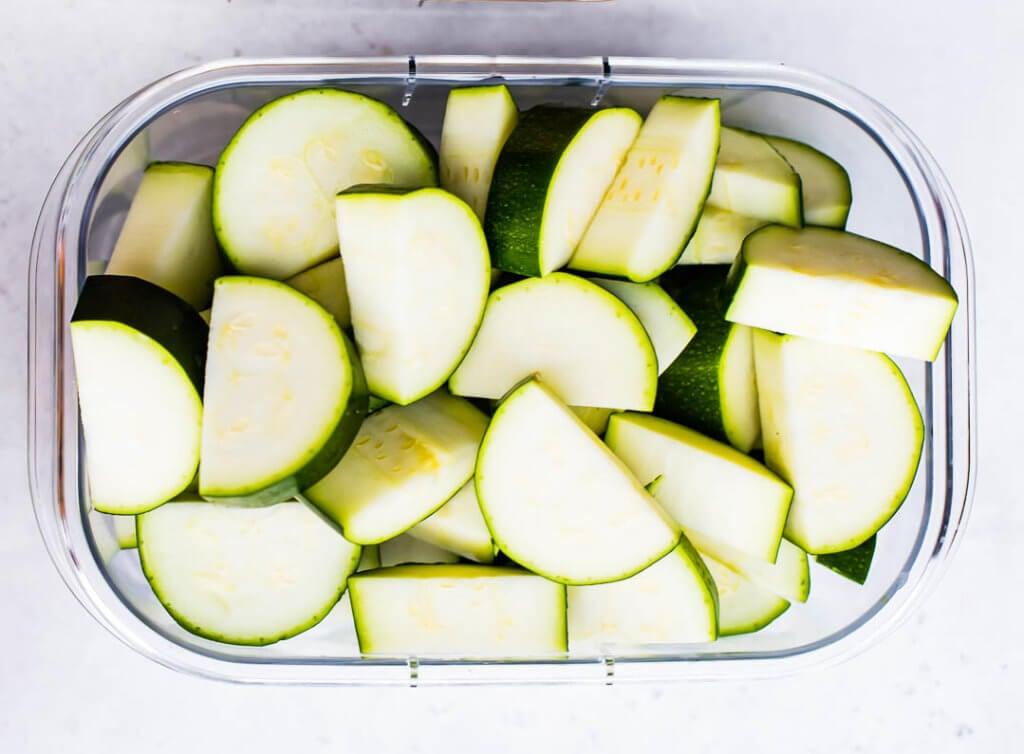 Clean Meal Prep Zucchini