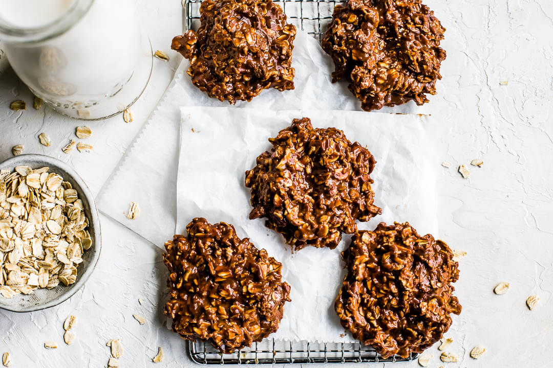 Chocolate Peanut Butter No Bake Protein Cookies