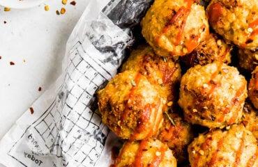 Sriracha Chicken Meatballs