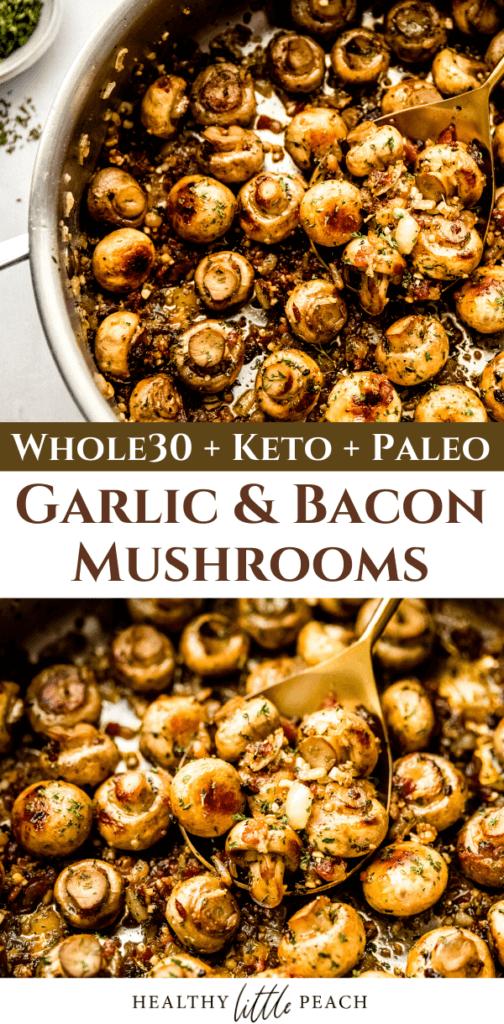 Garlic & Bacon Mushrooms