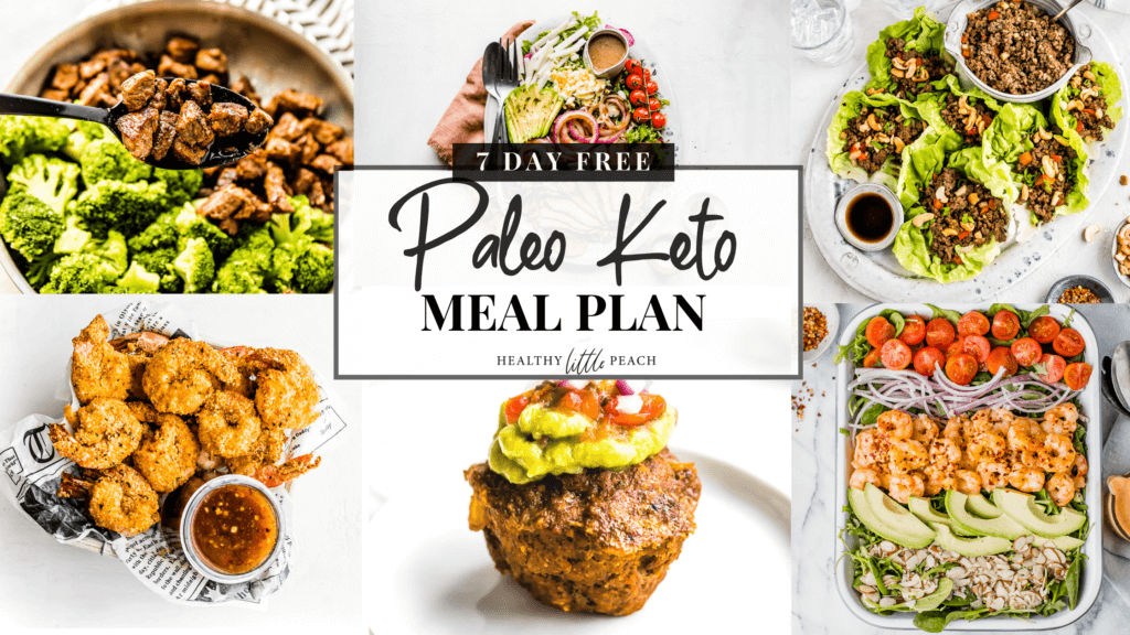 Paleo/Keto Meal Plan picture with link