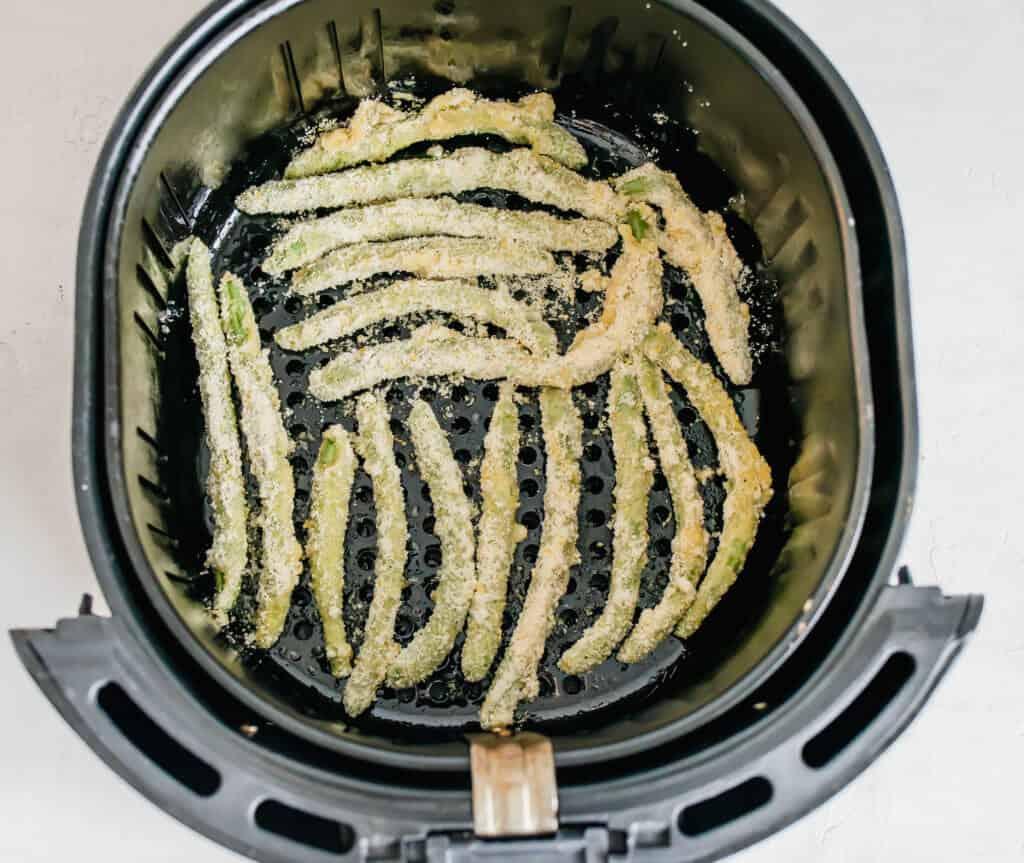 Green Bean fries in the air fryer