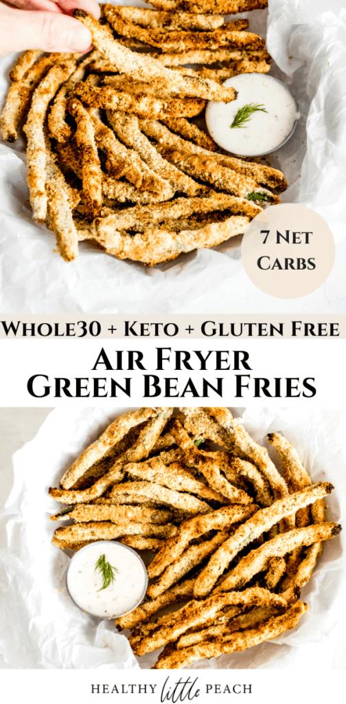 Air Fryer Green Bean Fries Pin for Pinterest