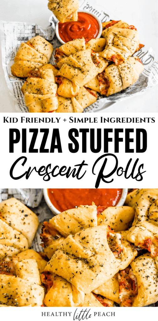 Pizza Stuffed Crescent Rolls Pinterest Pin