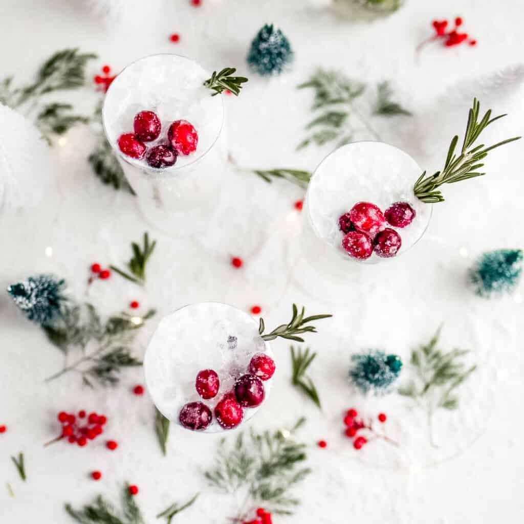 White Christmas Margaritas (Dairy Free)