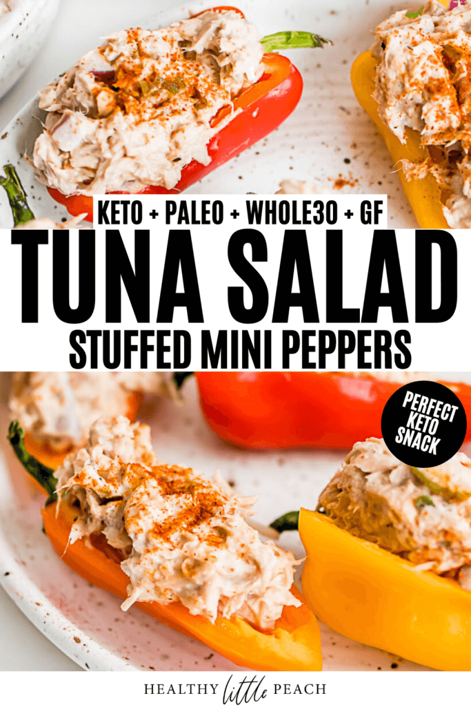 Tuna Salad Stuffed Mini Peppers Pinterest Pin