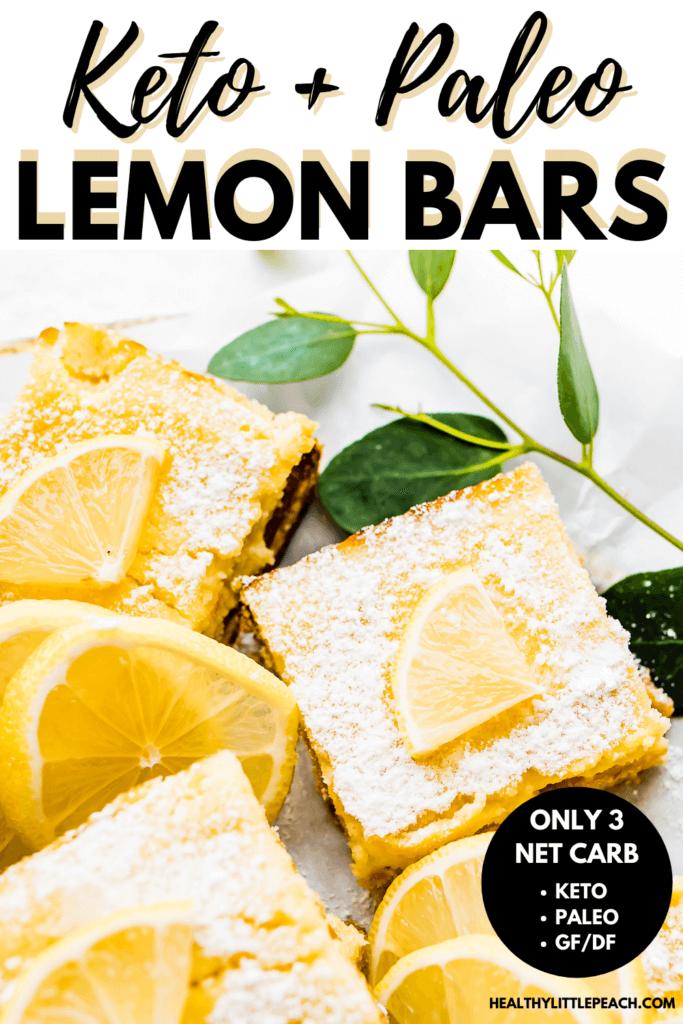 Keto Lemon Bars Pinterest Pin