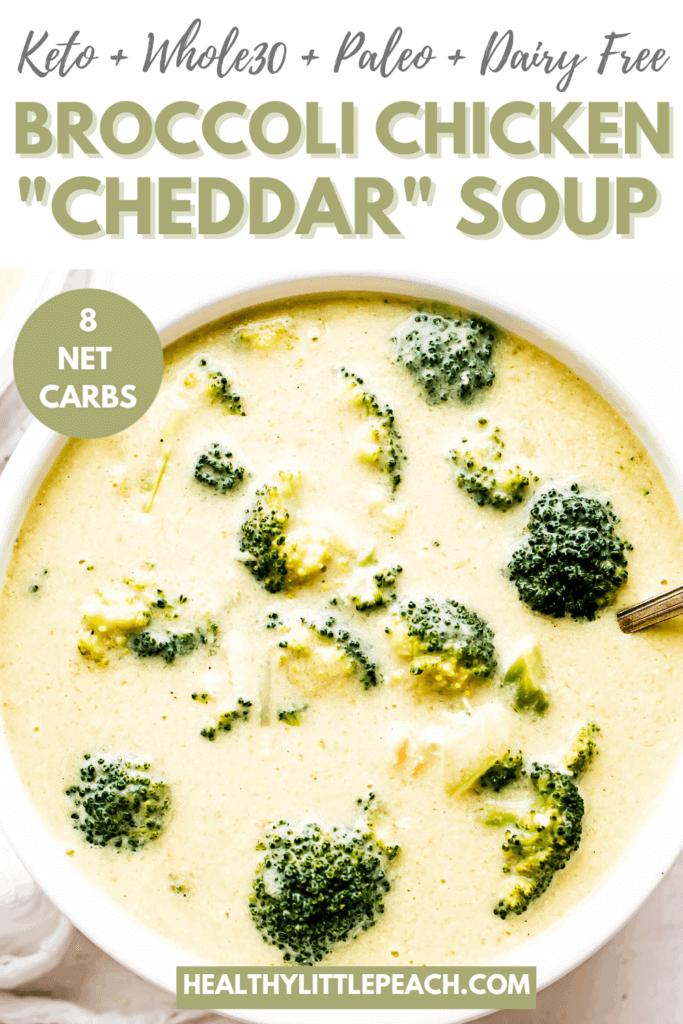 "Broccoli Chicken ""Cheddar"" Soup Pinterest Pins"