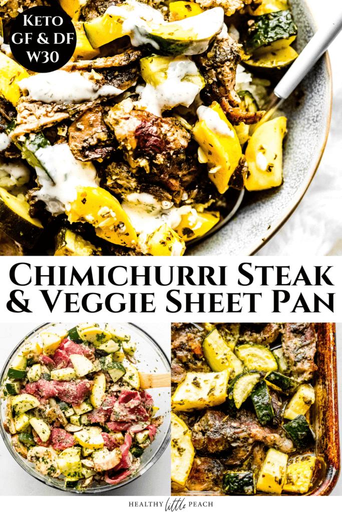 Chimichurri Steak and Veggie Sheet Pan Pinterest Pin