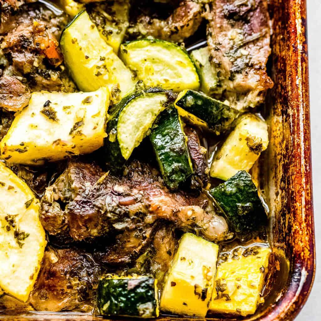 Chimichurri Steak and Veggie Sheet Pan