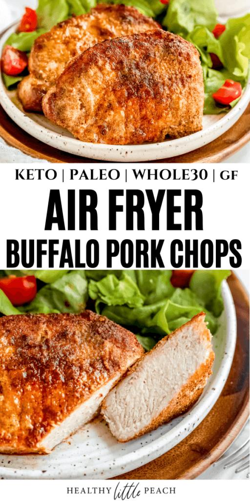 Air Fryer Buffalo Pork Chops Pinterest Pin