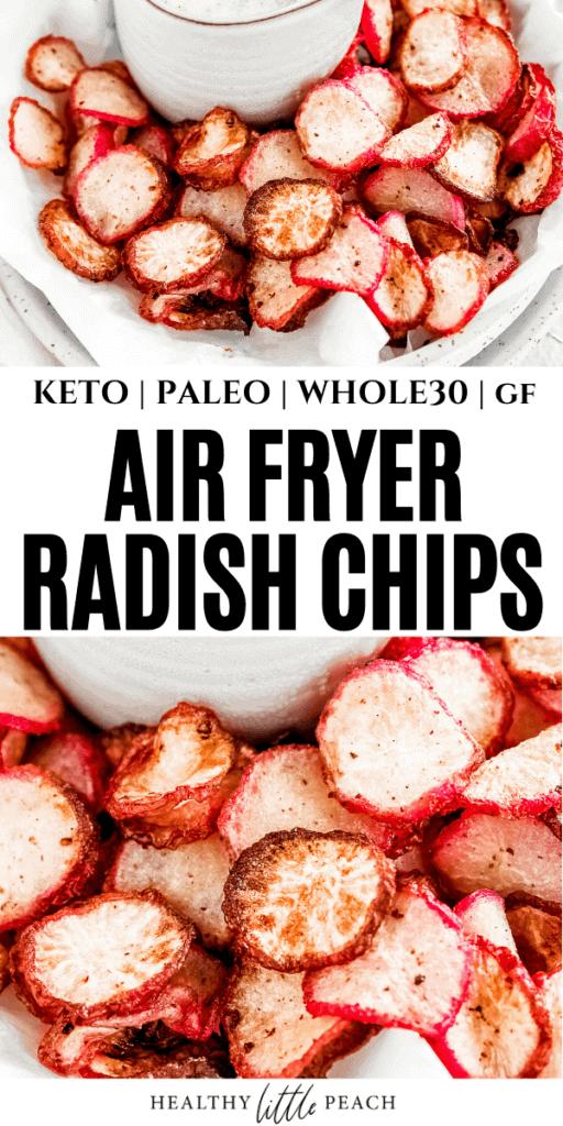 Air Fryer Radish Chips Pinterest Pin