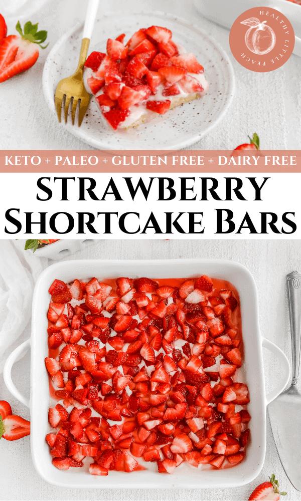 Keto Strawberry Shortcake Bars Pinterest Pin