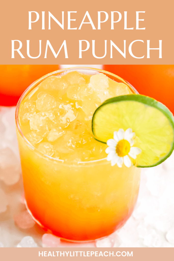 Pineapple Rum Punch Cocktail Pinterest Pin