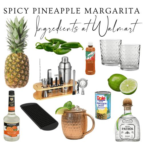 Ingredients of margaritas