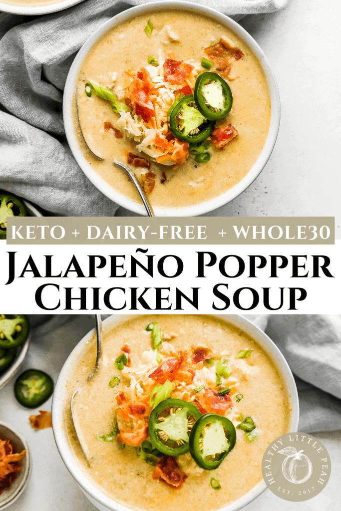 Jalapeño Popper Chicken Soup Pinterest Pin