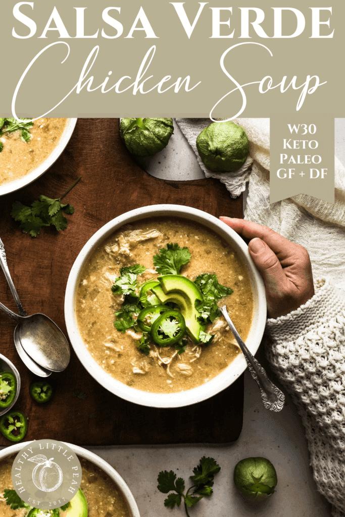 Salsa Verde Chicken Soup Pinterest Pin
