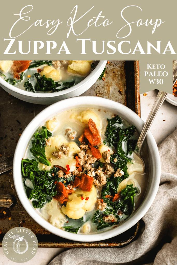 Keto Zuppa Toscano Soup Pinterest Pin